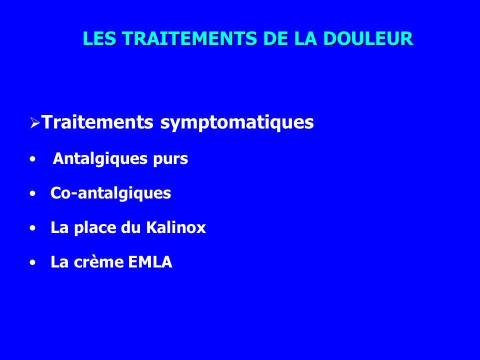 LES TRAITEMENTS DE LA DOULEUR