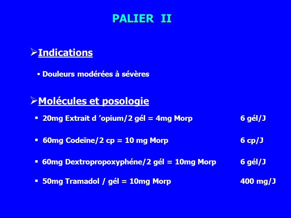 Molécules et posologie