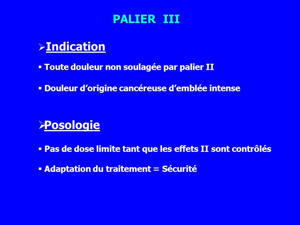 PALIER III Posologie Indication