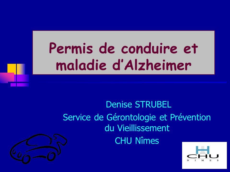 Permis de conduire et maladie d'Alzheimer
