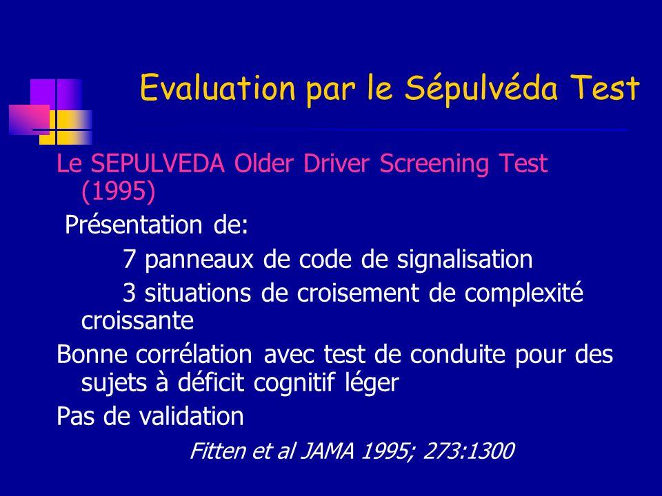 Evaluation par le Sépulvéda Test