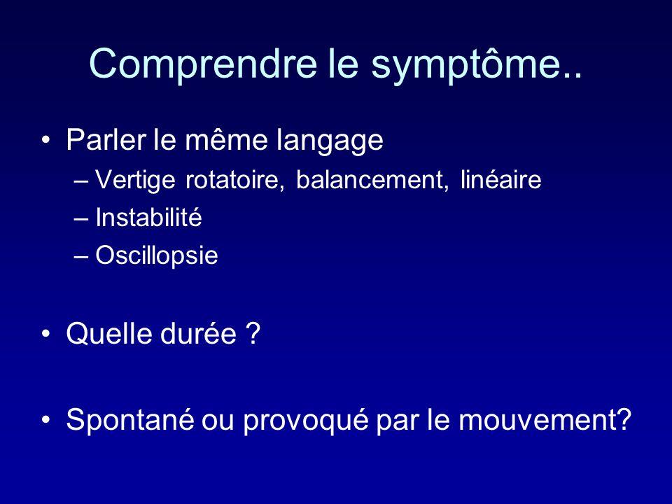 Comprendre le symptôme..