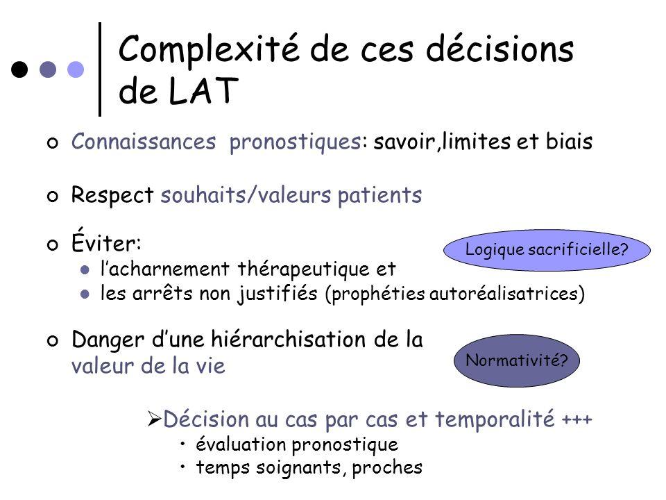 Complexité de ces décisions de LAT