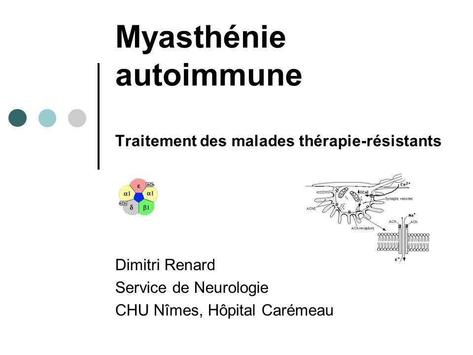 Myasthénie autoimmune Traitement des malades thérapie-résistants