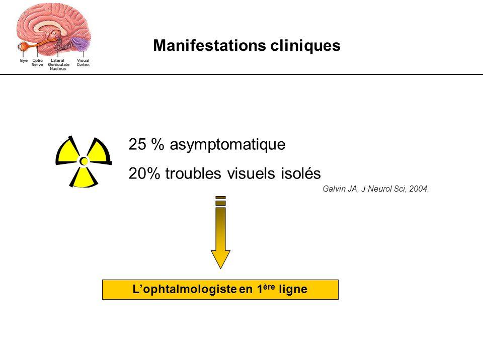 Manifestations cliniques L'ophtalmologiste en 1ère ligne