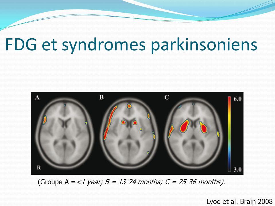 FDG et syndromes parkinsoniens