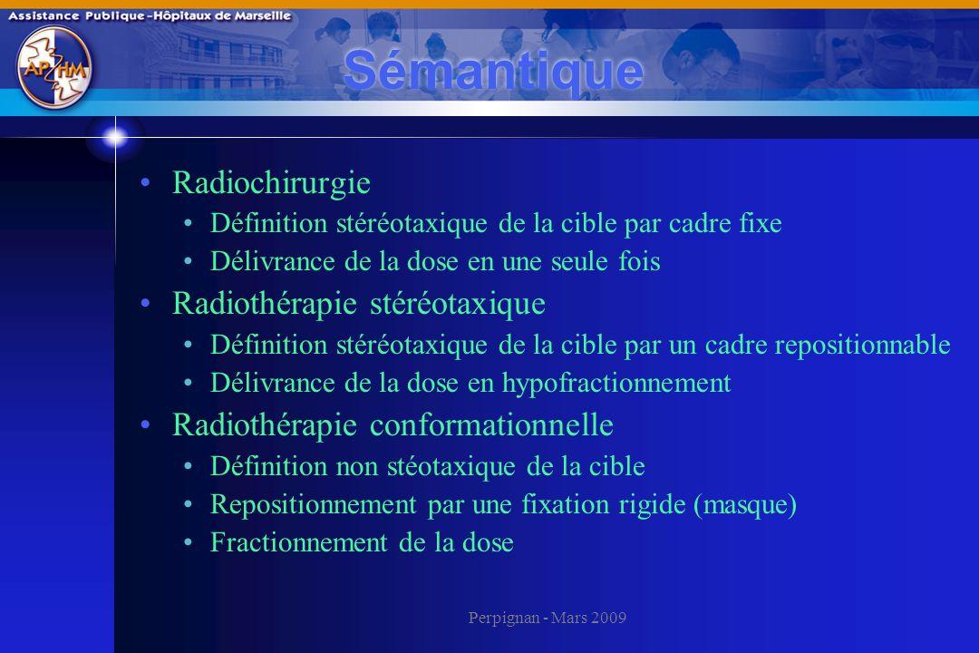 Sémantique Radiochirurgie Radiothérapie stéréotaxique
