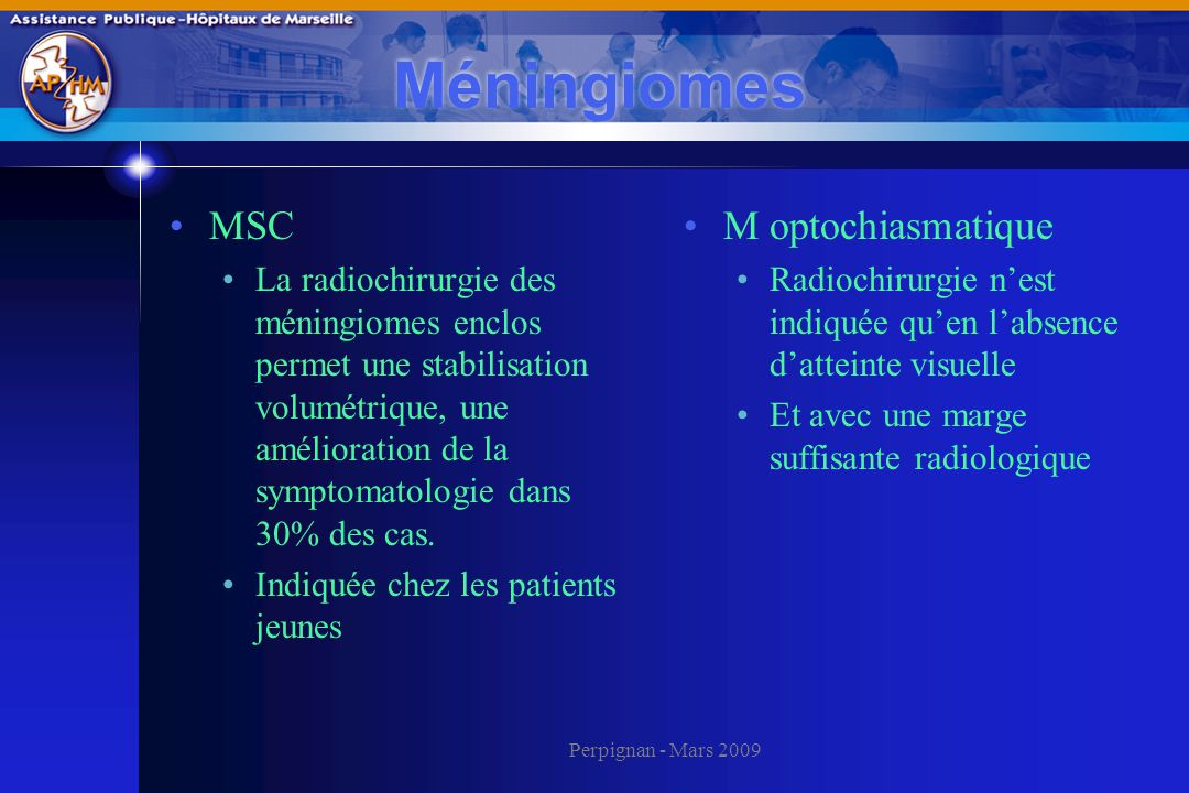 Méningiomes MSC M optochiasmatique