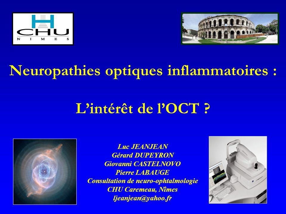 Neuropathies optiques inflammatoires : L'intérêt de l'OCT