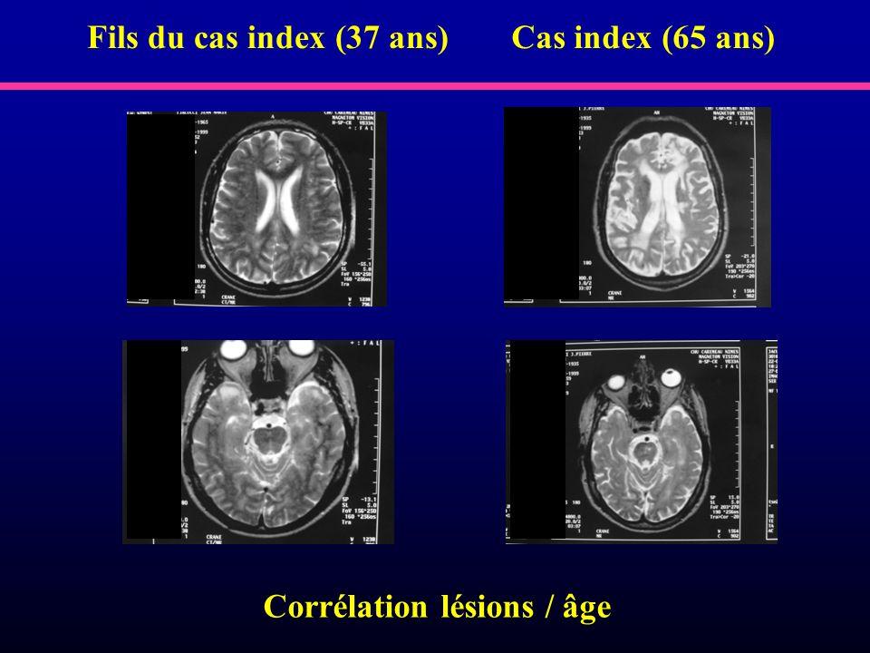Corrélation lésions / âge