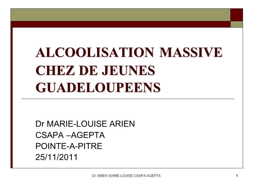 ALCOOLISATION MASSIVE CHEZ DE JEUNES GUADELOUPEENS