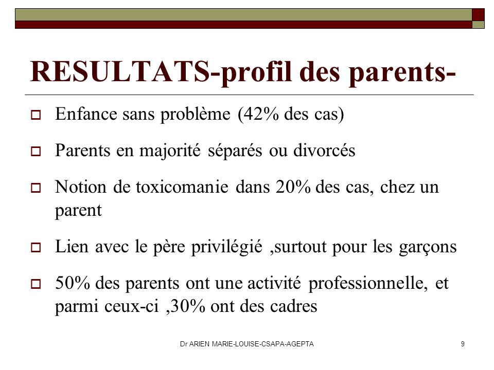 RESULTATS-profil des parents-