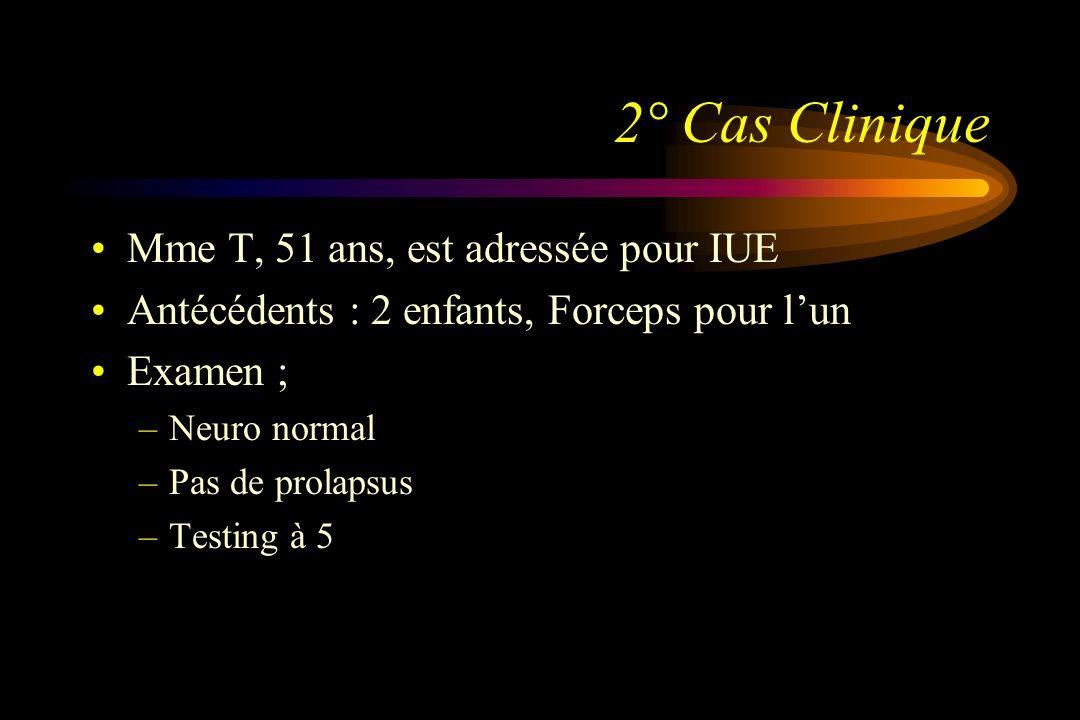 2° Cas Clinique Mme T, 51 ans, est adressée pour IUE
