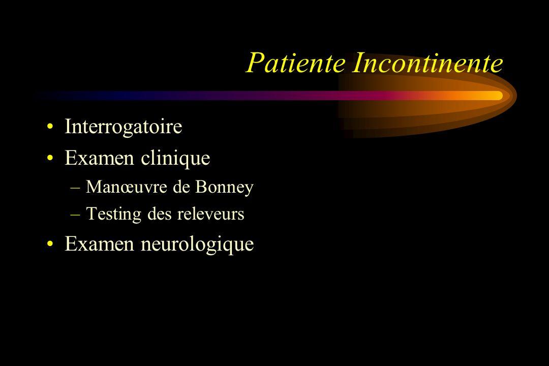 Patiente Incontinente
