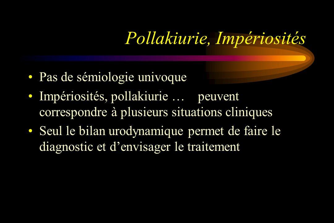 Pollakiurie, Impériosités
