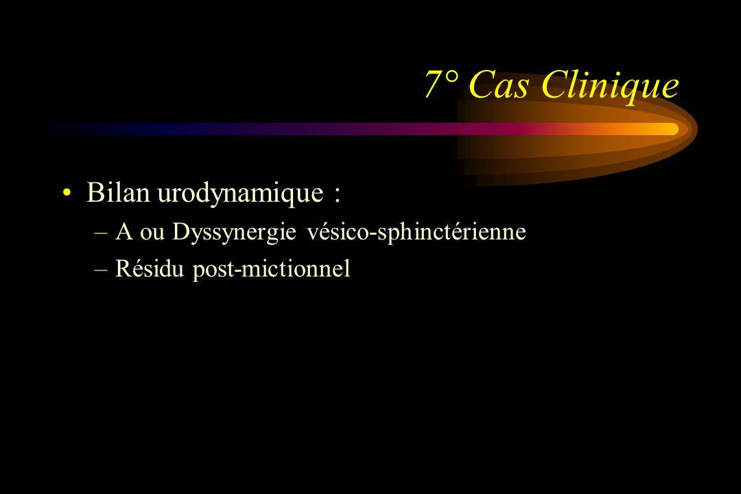 7° Cas Clinique Bilan urodynamique :