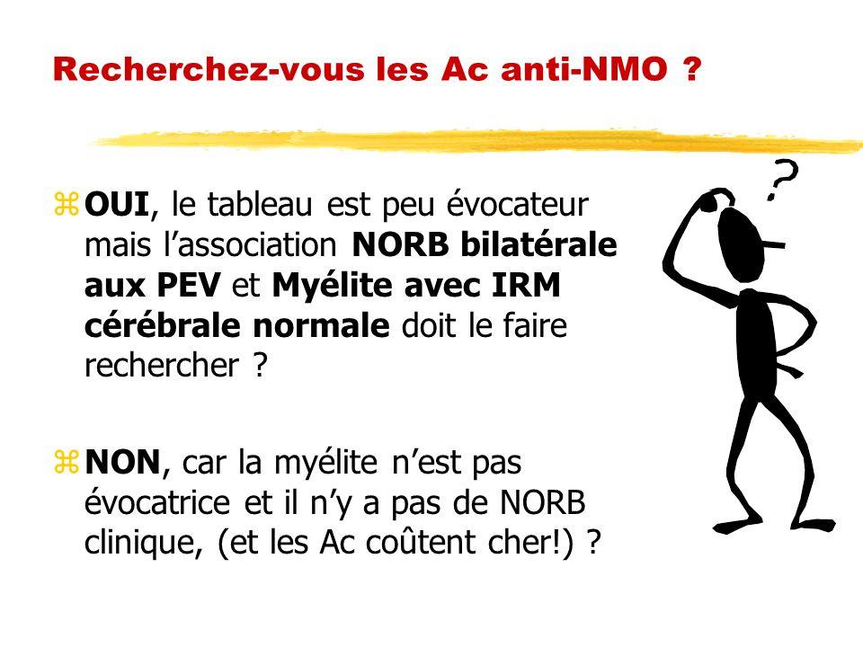 Recherchez-vous les Ac anti-NMO