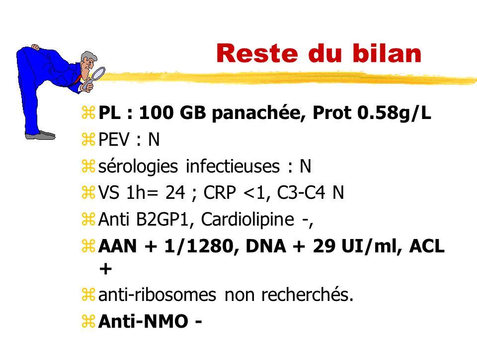 Reste du bilan PL : 100 GB panachée, Prot 0.58g/L PEV : N