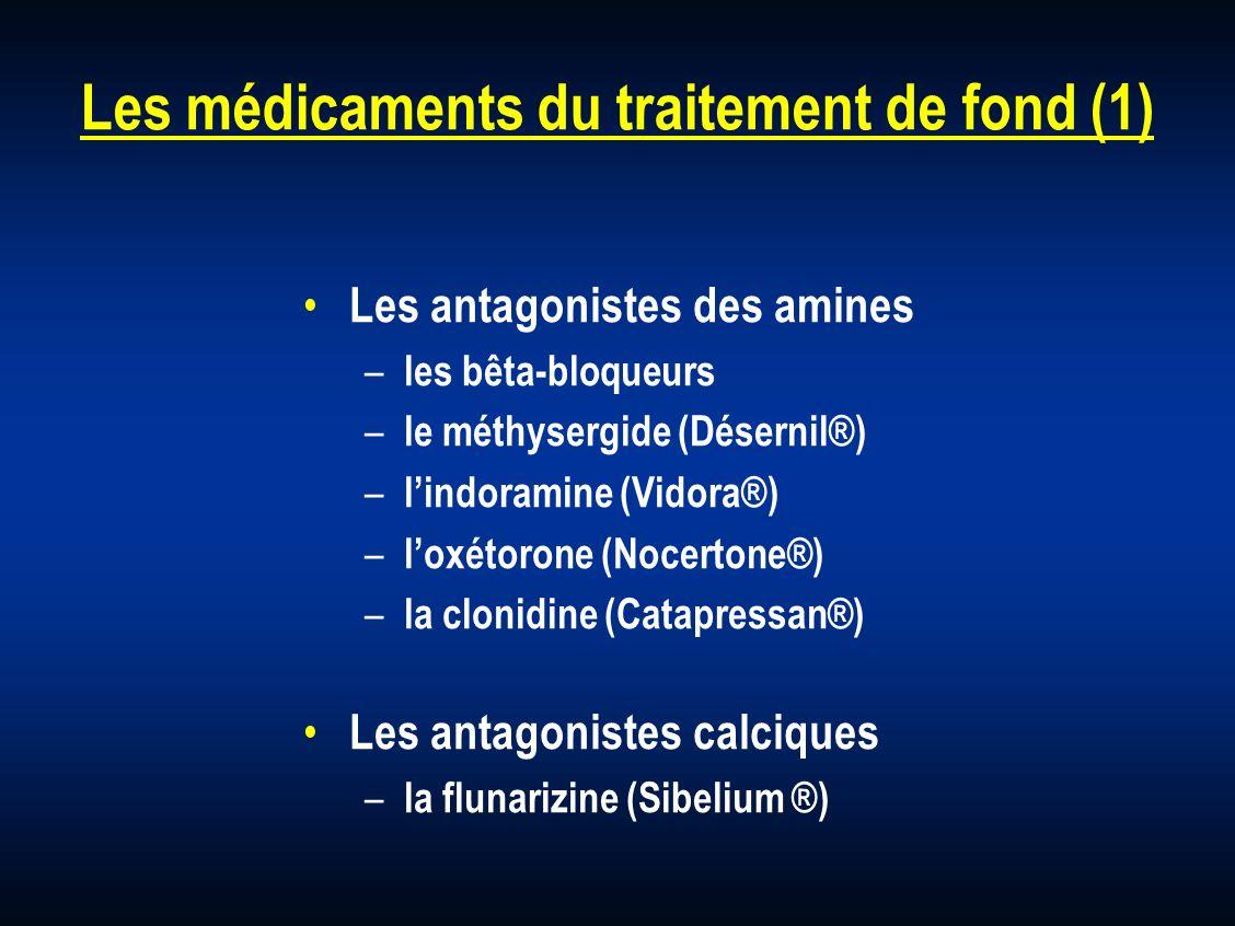 Les médicaments du traitement de fond (1)