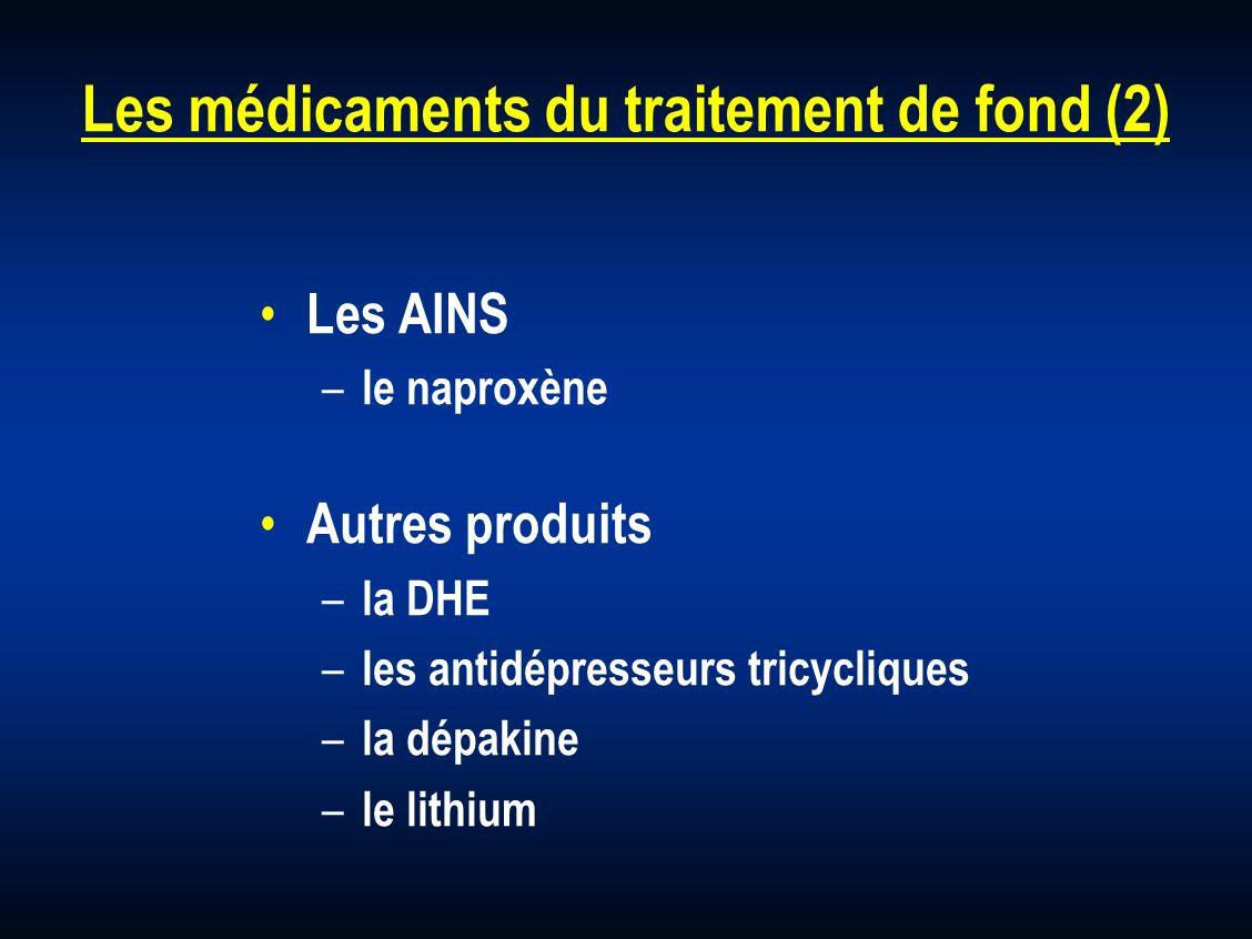 Les médicaments du traitement de fond (2)