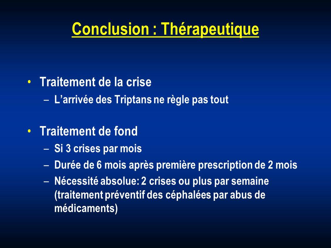 Conclusion : Thérapeutique