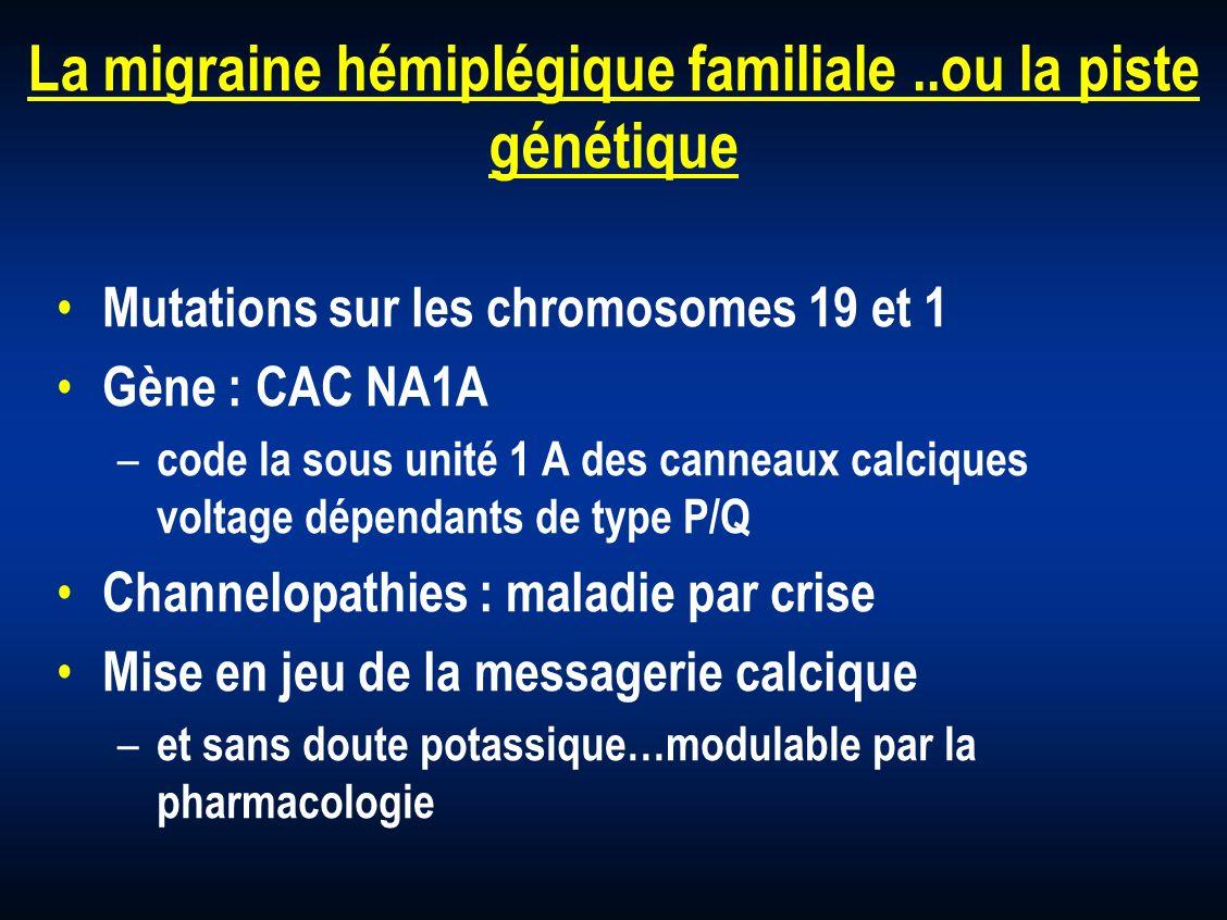 La migraine hémiplégique familiale ..ou la piste génétique