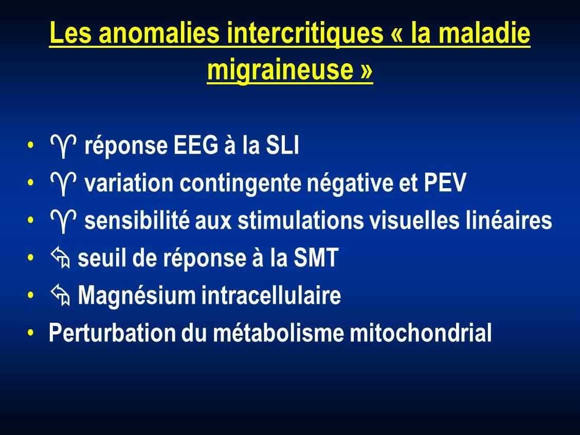 Les anomalies intercritiques « la maladie migraineuse »