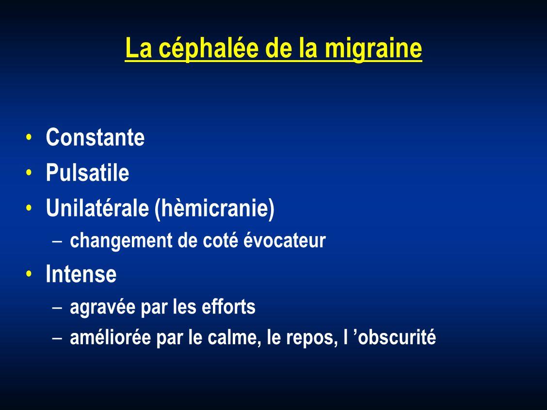 La céphalée de la migraine