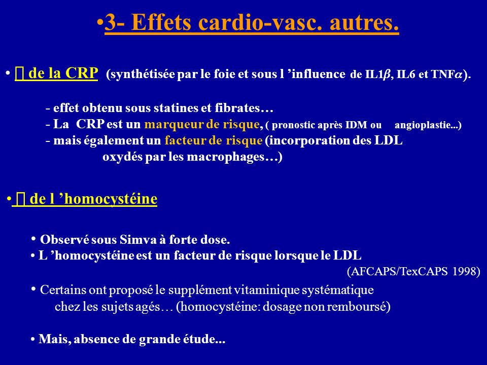 3- Effets cardio-vasc. autres.