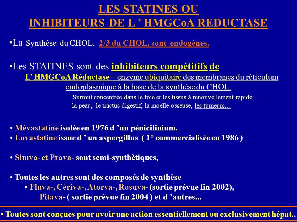 INHIBITEURS DE L ' HMGCoA REDUCTASE
