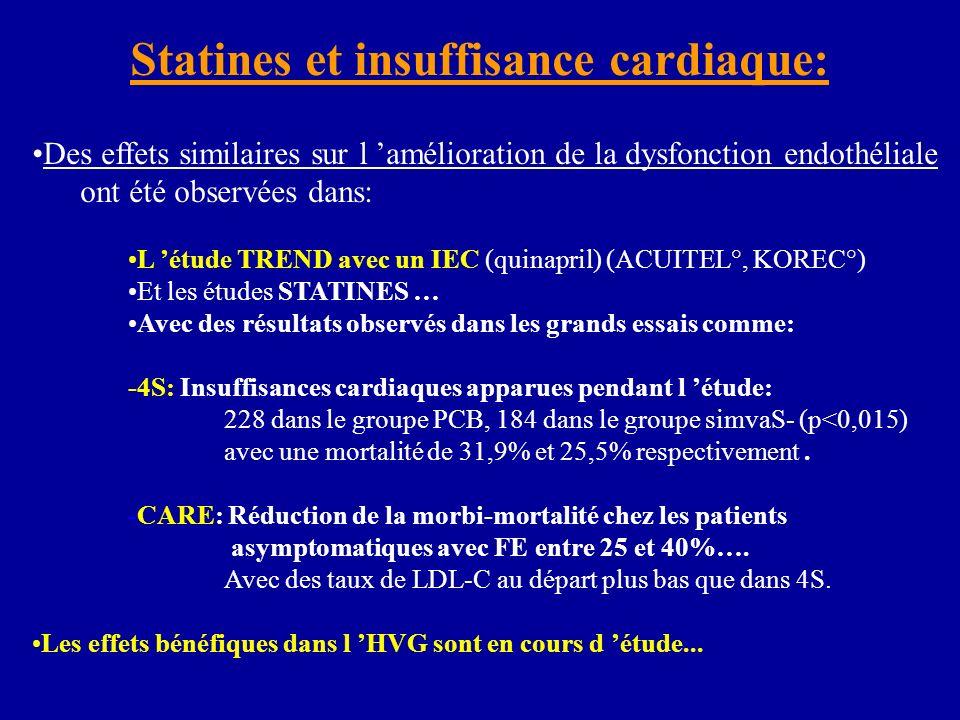 Statines et insuffisance cardiaque: