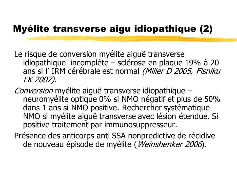 Myélite transverse aigu idiopathique (2)