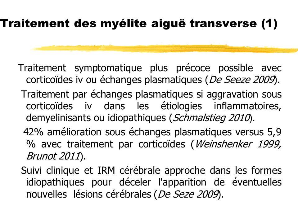 Traitement des myélite aiguë transverse (1)
