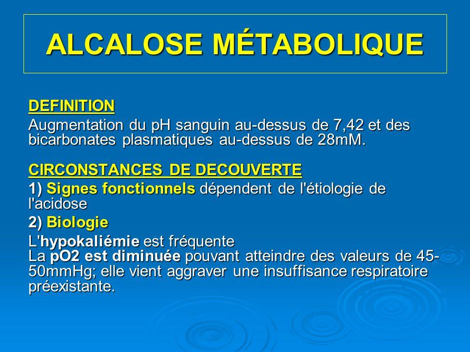 ALCALOSE MÉTABOLIQUE DEFINITION