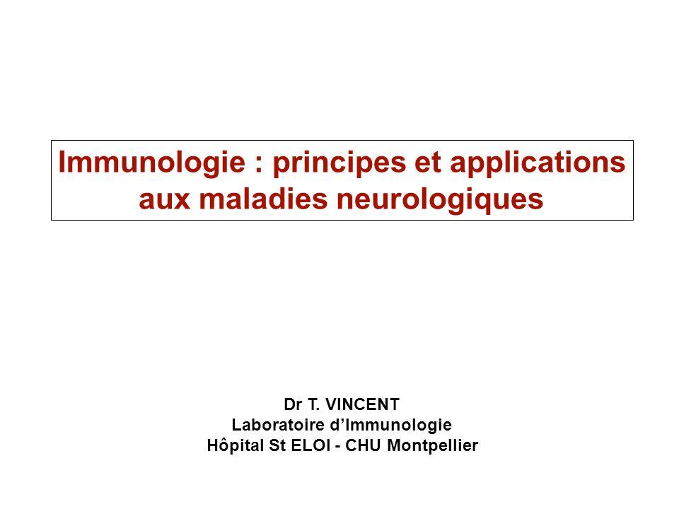 Immunologie : principes et applications aux maladies neurologiques