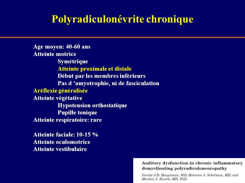 Polyradiculonévrite chronique