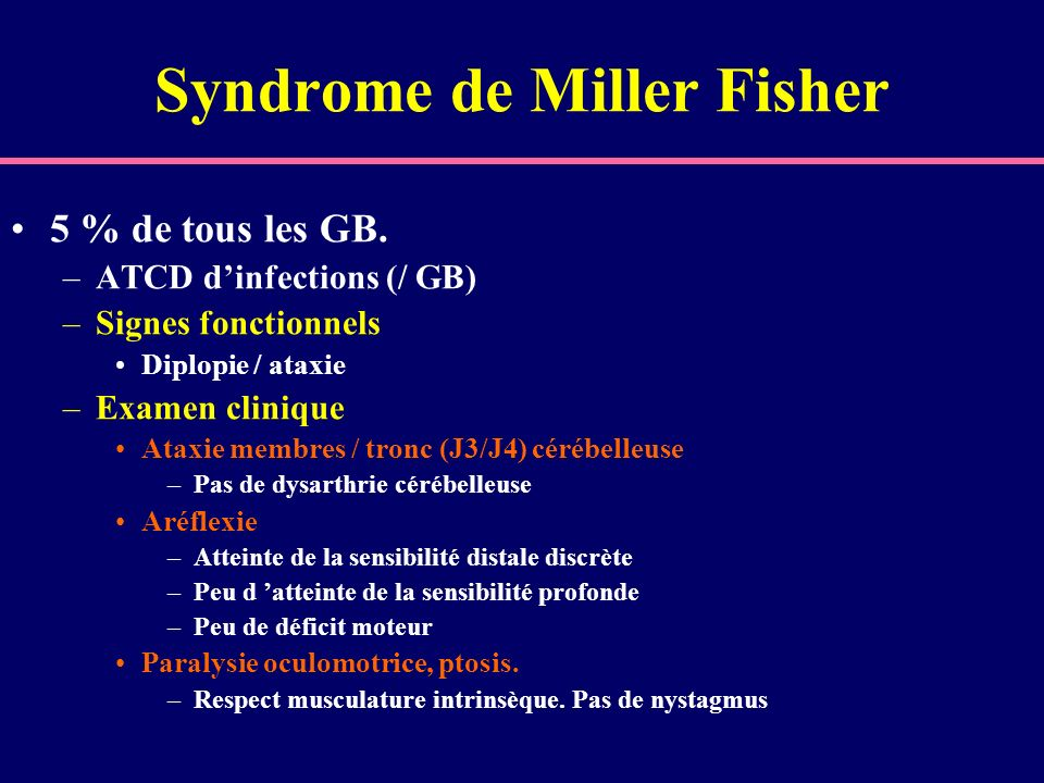 Syndrome de Miller Fisher