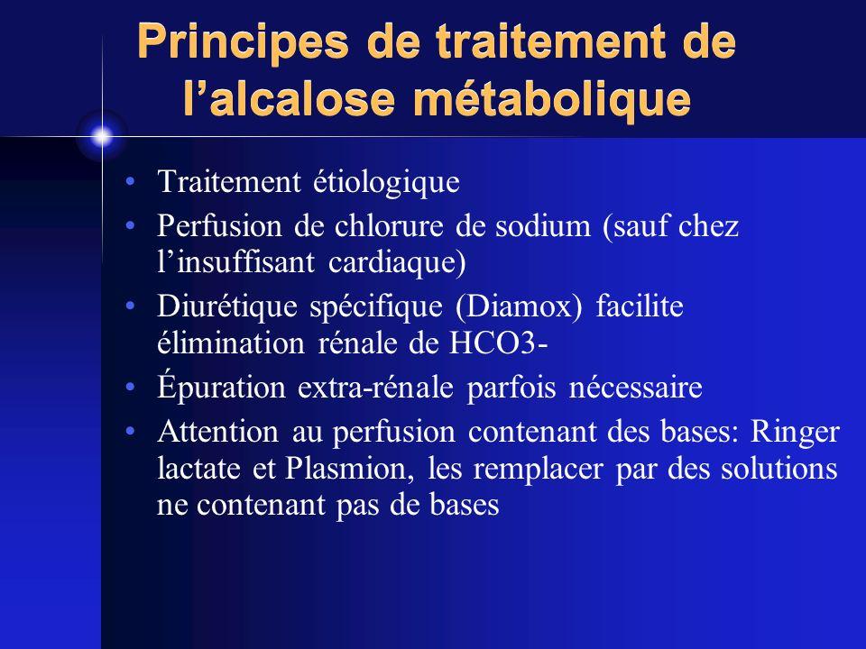 Principes de traitement de l'alcalose métabolique