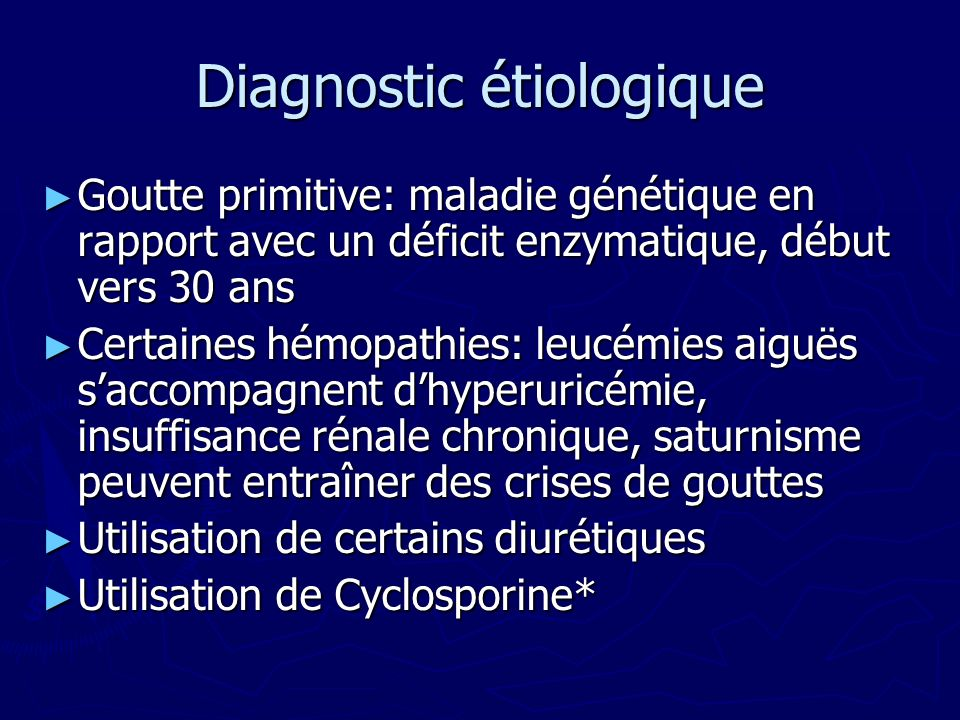 Diagnostic étiologique