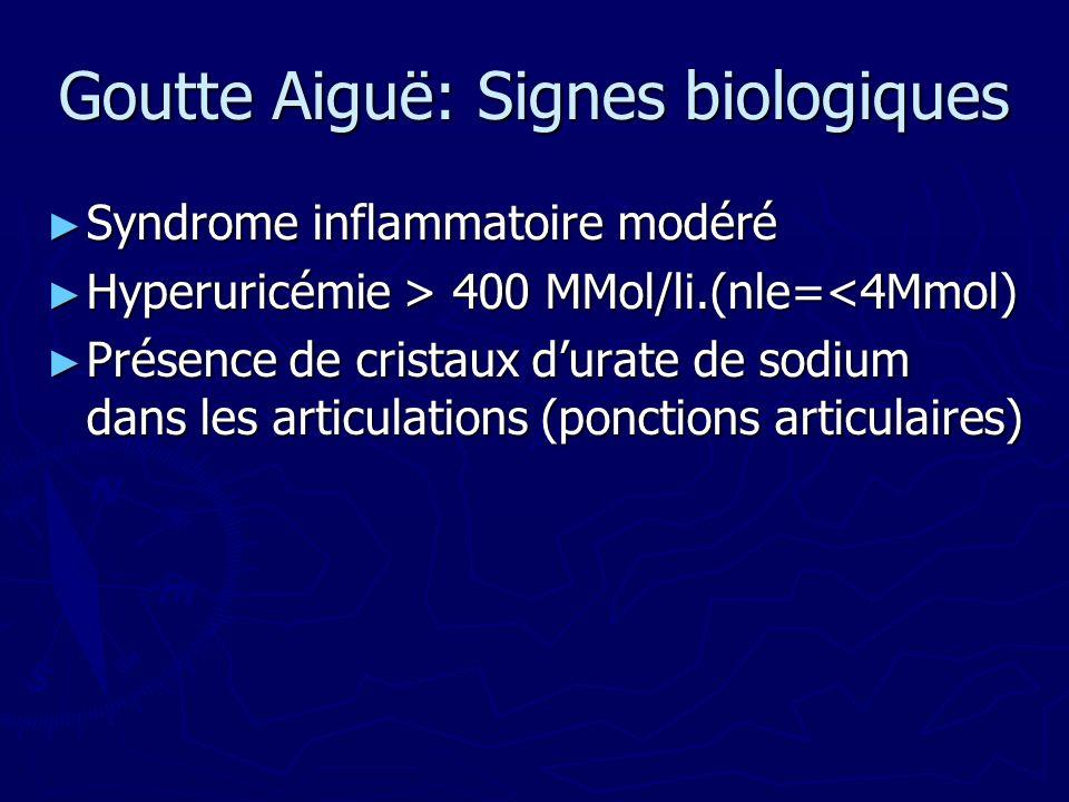 Goutte Aiguë: Signes biologiques