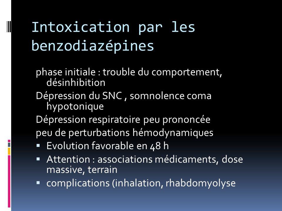 Intoxication par les benzodiazépines