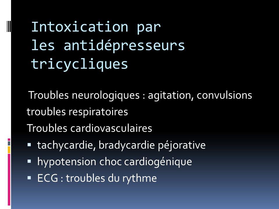 Intoxication par les antidépresseurs tricycliques