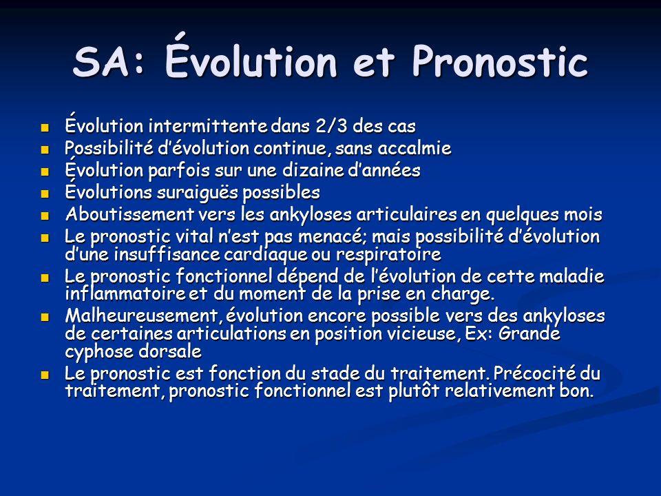 SA: Évolution et Pronostic