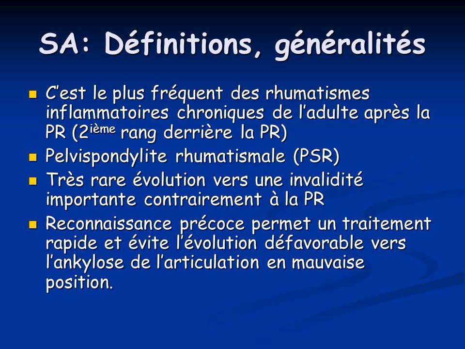 SA: Définitions, généralités