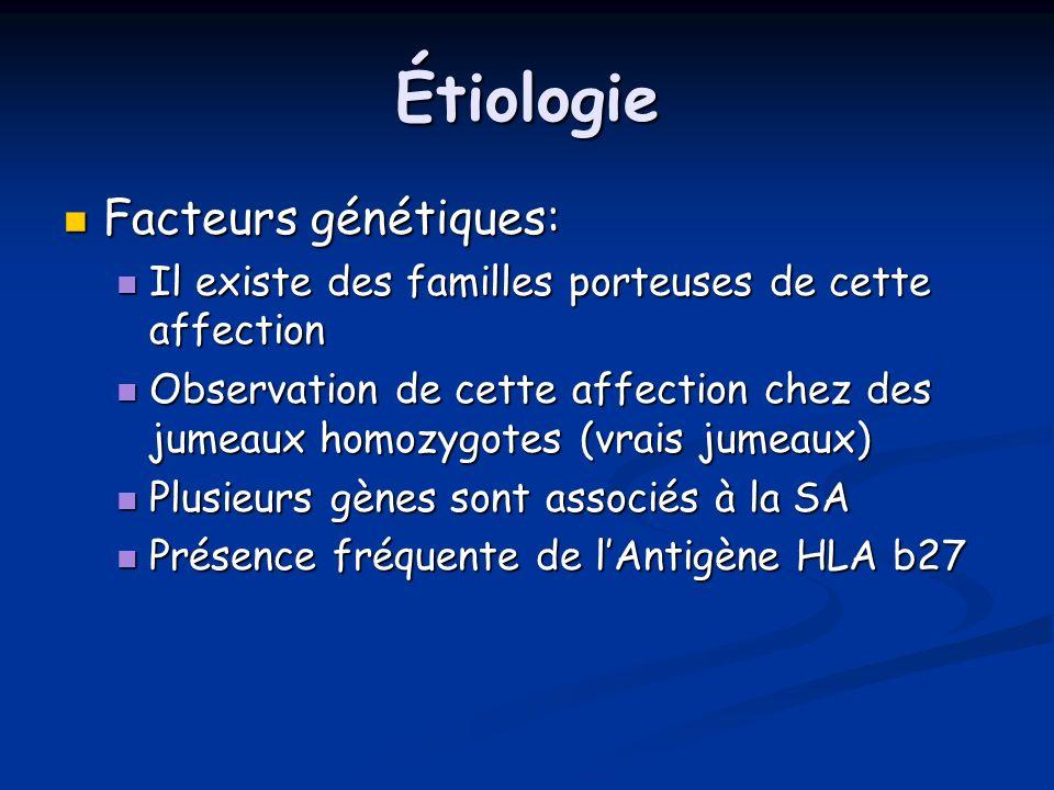 Étiologie Facteurs génétiques: