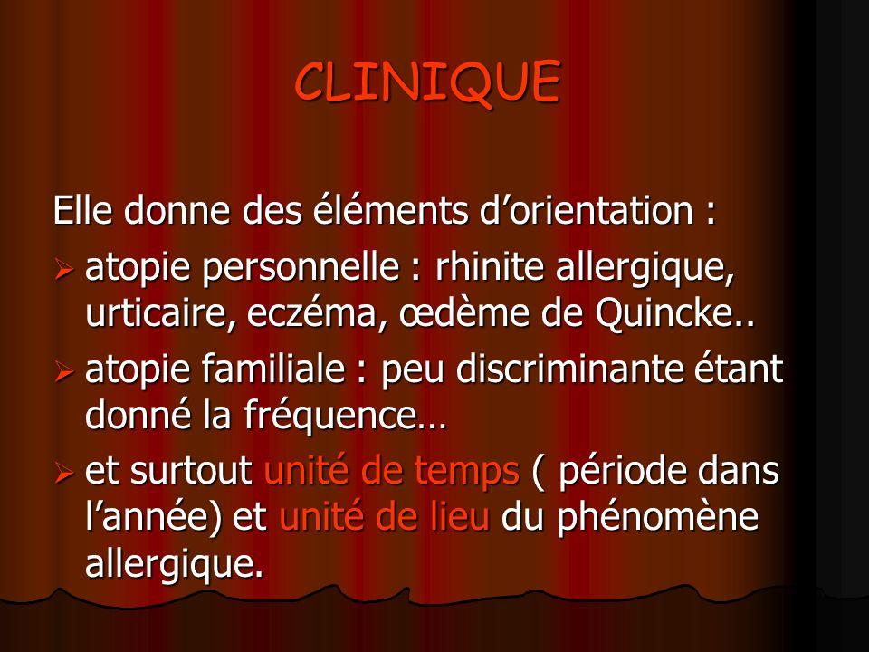 CLINIQUE Elle donne des éléments d'orientation :
