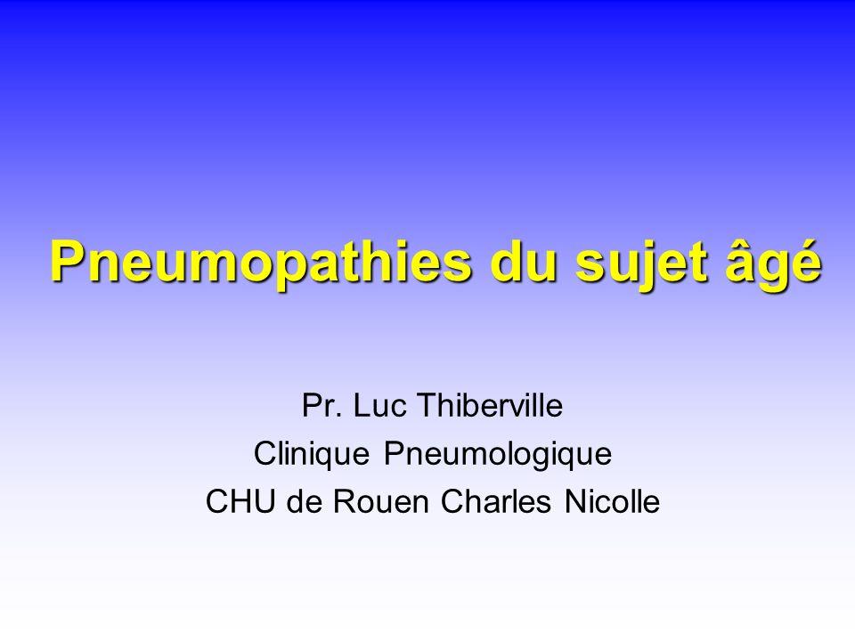Pneumopathies du sujet âgé