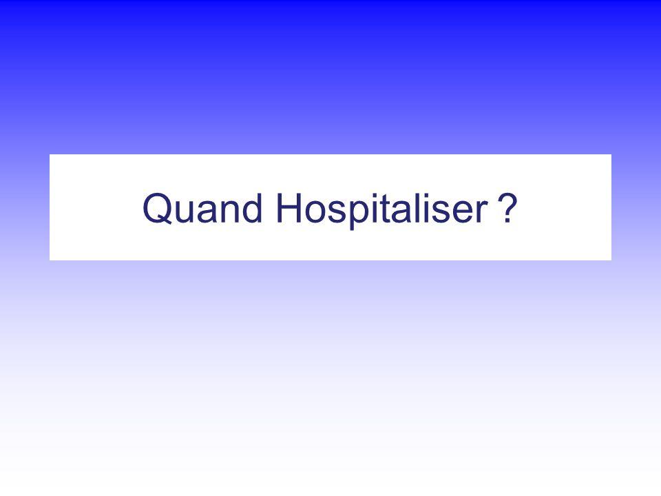 Quand Hospitaliser
