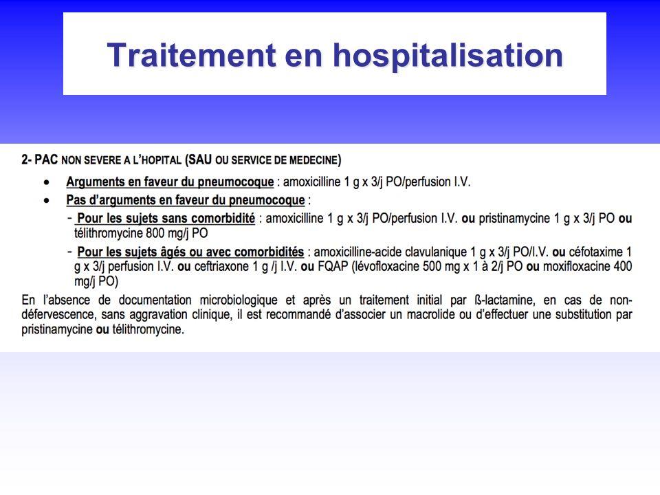 Traitement en hospitalisation