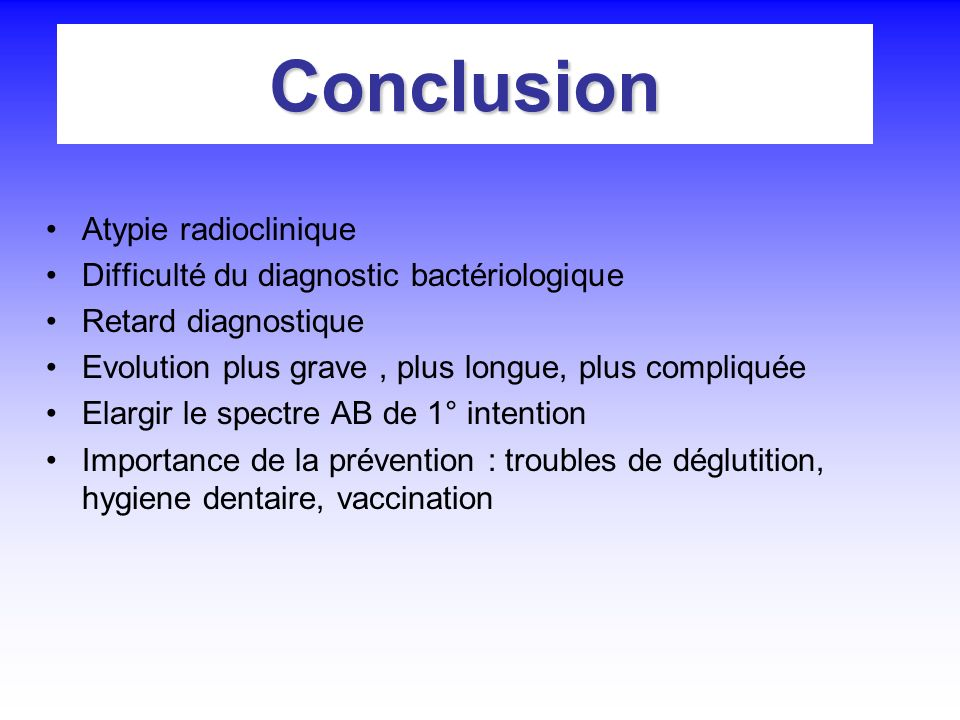 Conclusion Atypie radioclinique